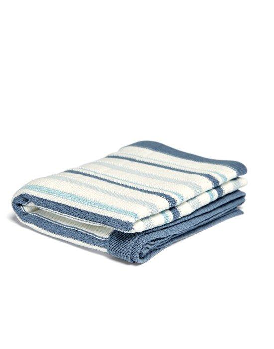 Mamas & Papas Κουβέρτα Πλεκτή Blue Stripe