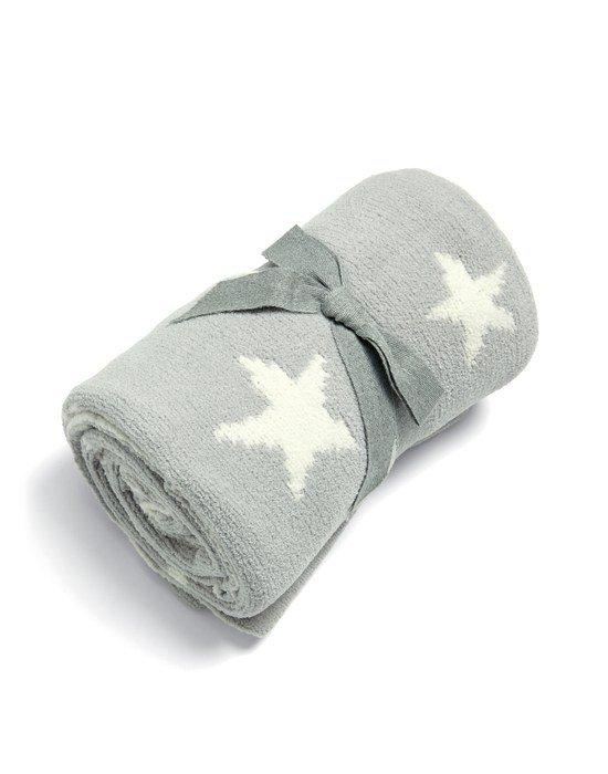 Mamas & Papas Κουβέρτα Πλεκτή Chenille 70*90 Grey Star