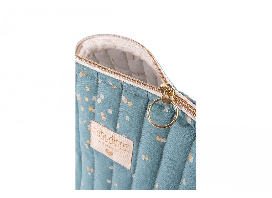 Holiday Vanity Case Trousse De Toilette Neceser White Bubble Gold Confetti Magic Green Nobodinoz 2