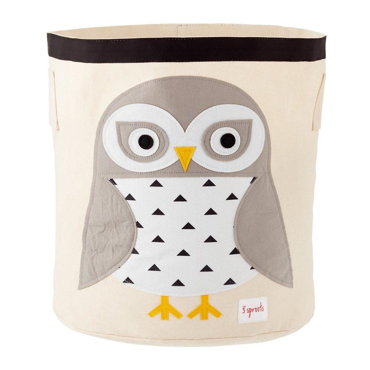 3 Sprouts Καλάθι παιχνιδιών Storage binSnowy Owl