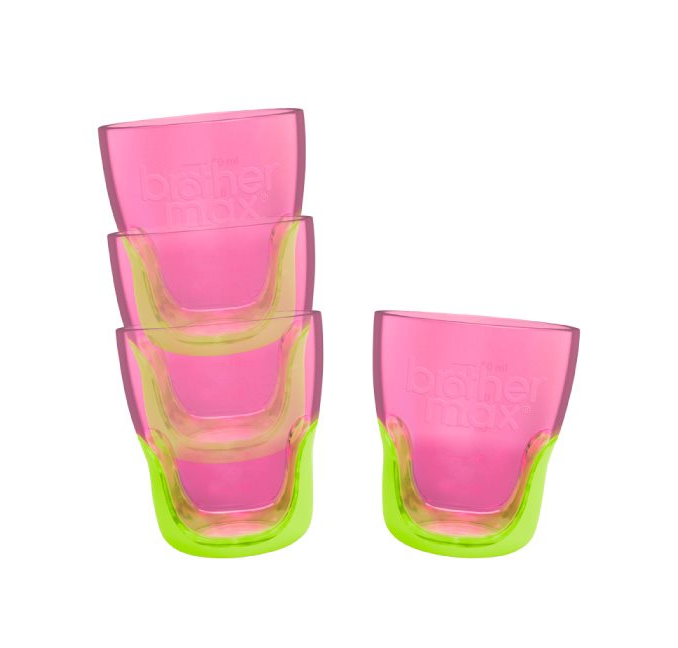 Brother Max Teach Me Cups Ποτηράκια Εκμάθησης PINK/GREEN