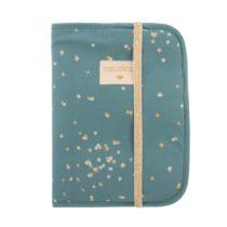 Poema Health Booklet Protege Carnet De Sante Funda Carnet Gold Confetti Magic Green Nobodinoz 1024x